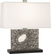 Robert Abbey S416 Goliath Contemporary Antiqued Polished Nickel with White Rock Crystal Table Light