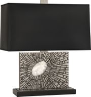 Robert Abbey S416B Goliath Modern Antiqued Polished Nickel with White Rock Crystal Table Lighting