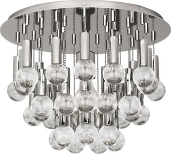 Robert Abbey S754 Jonathan Adler Milano Polished Nickel with Crystal Home Ceiling Lighting