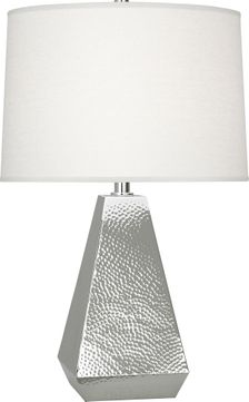 Robert Abbey S9872 Dal Contemporary Polished Nickel Lighting Table Lamp