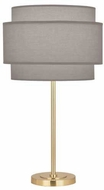 Robert Abbey SG130 Decker Contemporary Modern Brass Table Light