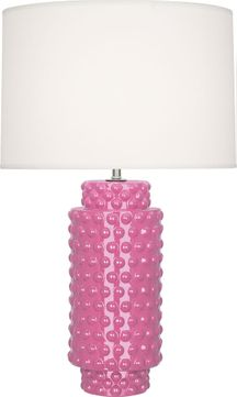 Robert Abbey SP800 Dolly Schiaparelli Pink Glazed Textured Ceramic 28 Side Table Lamp