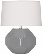 Robert Abbey ST01 Franklin Smoky Taupe Glazed Ceramic 13 Side Table Lamp