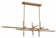 Robert Abbey WB905 Jonathan Adler Milano Modern Warm Brass Kitchen Island Light