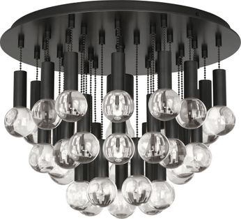 Robert Abbey Z754 Jonathan Adler Milano Deep Patina Bronze with Crystal Overhead Lighting