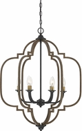 Savoy House 1-0307-6-96 Westwood Barrelwood w/ Brass Accents Foyer Lighting