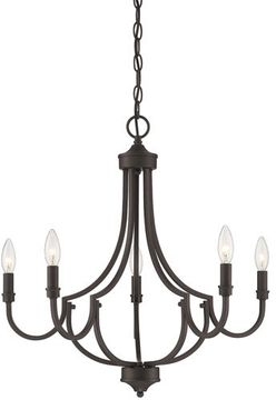 Savoy House 1-2005-5-13 Auburn English Bronze Chandelier Light