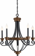 Savoy House 1-2050-5-68 Wickham Traditional Whiskey Wood 25  Chandelier Light