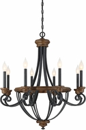 Savoy House 1-2051-8-68 Wickham Traditional Whiskey Wood 29  Ceiling Chandelier