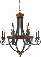 Savoy House 1-2052-12-68 Wickham Traditional Whiskey Wood 38  Hanging Chandelier