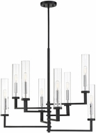 Savoy House 1-2139-8-67 Folsom Modern Matte Black with Polished Chrome Accents Lighting Chandelier