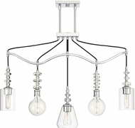 Savoy House 1-2152-5-11 Apollo Contemporary Polished Chrome Multi Hanging Lamp