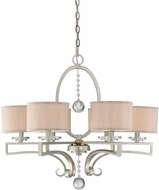 Savoy House 1-250-6-307 Rosendal Silver Sparkle Chandelier Lighting