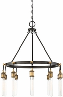 Savoy House 1-2904-10-51 Campbell Modern Vintage Black with Warm Brass Hanging Chandelier