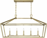 Savoy House 1-324-5-322 Townsend Warm Brass Kitchen Island Light