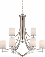 Savoy House 1-331-9-SN Colton Satin Nickel 33  Chandelier Light