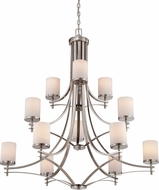 Savoy House 1-332-12-SN Colton Satin Nickel 40  Hanging Chandelier