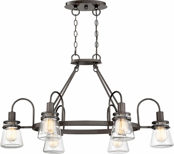 Savoy House 1-3502-6-13 Portsmouth Contemporary English Bronze Outdoor Ceiling Chandelier