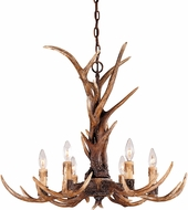 Savoy House 1-40017-6-56 Blue Ridge Country New Tortoise Shell Hanging Chandelier
