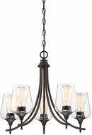 Savoy House 1-4032-5-13 Octave Contemporary English Bronze Mini Ceiling Chandelier