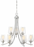 Savoy House 1-4033-9-11 Octave Contemporary Polished Chrome Chandelier Light