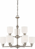 Savoy House 1-6838-9-SN Melrose Satin Nickel Chandelier Light
