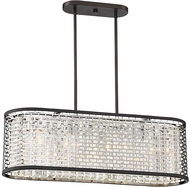 Savoy House 1-702-4-106 Leeds Modern Chrome and Metallic Bronze Kitchen Island Light