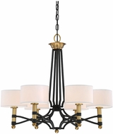 Savoy House 1-7080-6-30 Exeter Carbon w/ Warm Brass Accent Chandelier Light