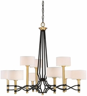 Savoy House 1-7081-9-30 Exeter Carbon w/ Warm Brass Accent Chandelier Lighting