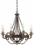 Savoy House 1-7401-8-39 Mallory Fossil Stone Chandelier Lighting