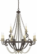 Savoy House 1-7405-12-39 Mallory Fossil Stone Lighting Chandelier