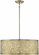 Savoy House 1-7500-4-171 New Haven New Burnished Brass Drum Pendant Lamp