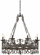 Savoy House 1-8001-8-64 Flanders Traditional Fieldstone Chandelier Lamp