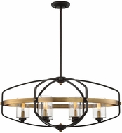 Savoy House 1-8042-6-79 Kirkland Contemporary English Bronze and Warm Brass Hanging Chandelier