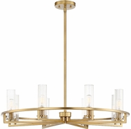 Savoy House 1-807-8-322 Bolton Modern Warm Brass 31  Chandelier Lamp