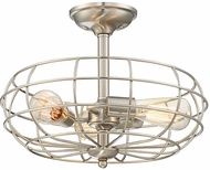 Savoy House 1-8075-3-SN Scout Contemporary Satin Nickel Ceiling Light