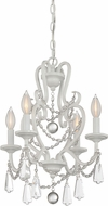 Savoy House 1-872-4-80 Mini Chandelier Matte White Mini Ceiling Chandelier