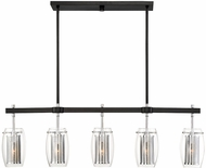 Savoy House 1-9061-5-67 Dunbar Contemporary Matte Black w Polished Chrome Accents Island Lighting