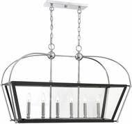 Savoy House 1-9075-6-67 Dunbar Modern Matte Black w Polished Chrome Accents Kitchen Island Lighting