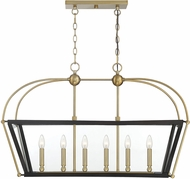 Savoy House 1-9075-6-79 Dunbar Contemporary English Bronze & Warm Brass Kitchen Island Light