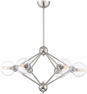Savoy House 1-9090-6-109 Bonn Contemporary Polished Nickel Chandelier Lamp