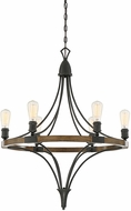 Savoy House 1-9111-6-68 Turing Whiskey Wood Chandelier Lamp