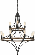 Savoy House 1-9112-12-68 Turing Whiskey Wood Chandelier Light