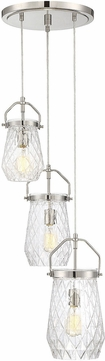 Savoy House 1-9283-3-109 St. Clare Contemporary Polished Nickel Multi Pendant Lamp
