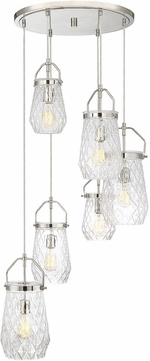 Savoy House 1-9284-6-109 St. Clare Modern Polished Nickel Multi Hanging Lamp