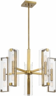 Savoy House 1-9772-10-322 Winfield Modern Warm Brass Ceiling Chandelier