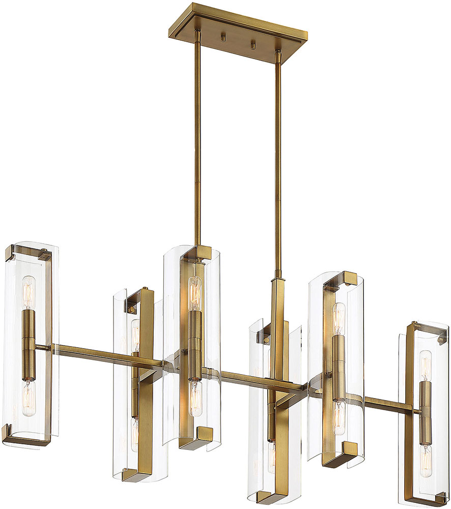 Savoy house 1 9773 12 322 winfield contemporary warm brass kitchen island light fixture svh 1 9773 12 322