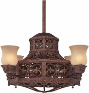 Savoy House 14-280-FD-56 Fire Island Traditional New Tortoise Shell Indoor / Outdoor Ceiling Fan
