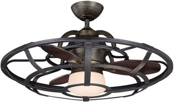 Savoy House 26-9536-FD-196 Alsace Reclaimed Wood LED Home Ceiling Fan