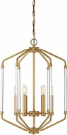 Savoy House 3-200-6-322 Reed Contemporary Warm Brass 16  Foyer Light Fixture